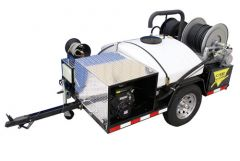 Cam Spray Trailer Mounted Gas Powered Sewer and Drain Jetter