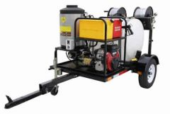 Cam Spray Model UVJ4050V-Hot Trailer Mount Hot Water Sewer and Drain Jetter