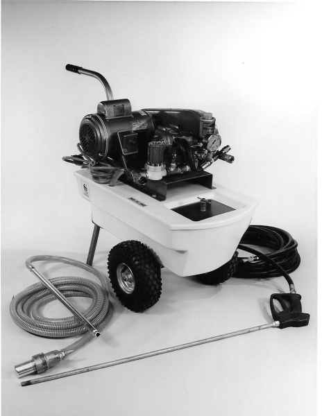 The first two standard production models of Cam Spray pressure washers