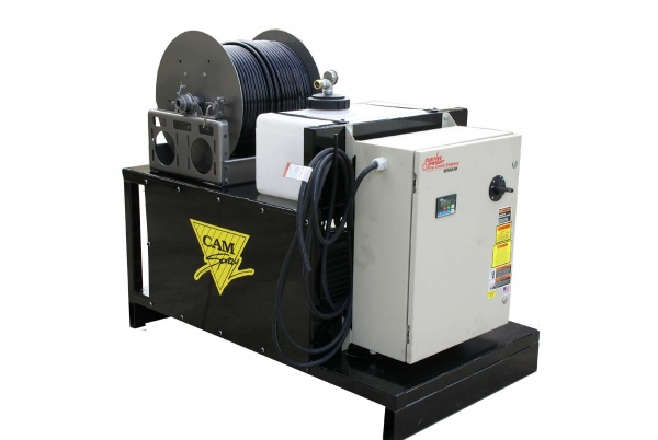 This electric drain jetter was developed for one of the largest packing plants in Canada