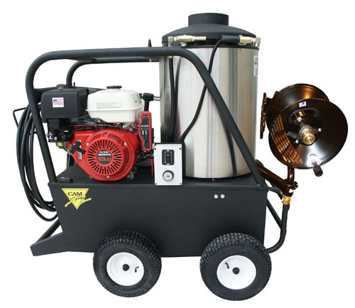 Portable Gas Powered 4 gpm, 3000 psi Hot Water Sewer and Drain Jetter | CS3000QH.4