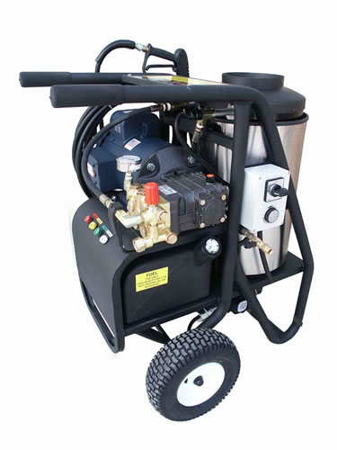 Electric hot water pressure washers