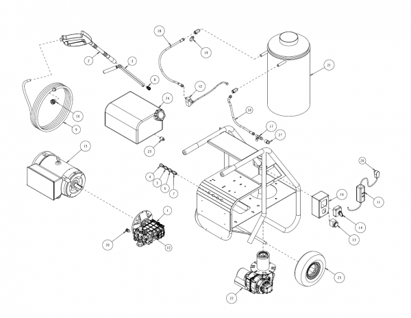 replacement parts for 3000shde hot water pressure washer