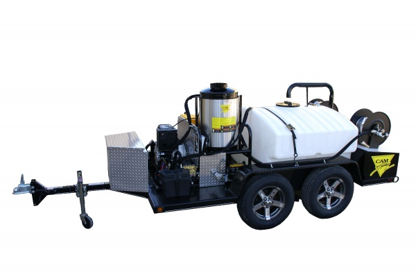 Deluxe Trailer Mounted Diesel Fired Diesel Powered 5.5 gpm, 4000 psi Hot Water Pressure Washer