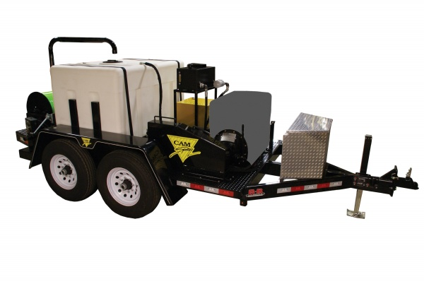 Deluxe Trailer Mounted Diesel Powered 18 gpm, 4000 psi Cold Water Sewer and Drain Jetter