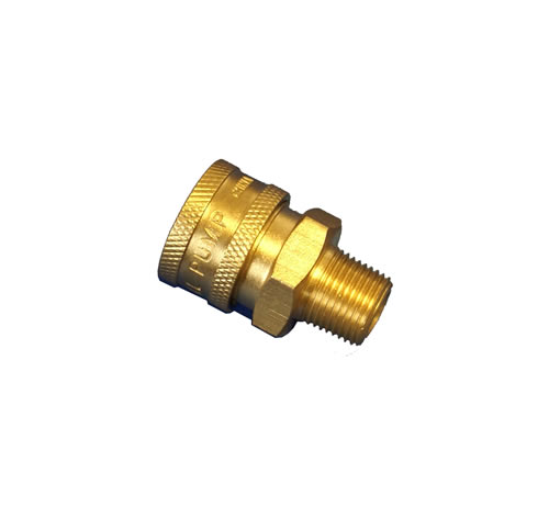 Pressure washer quick coupling