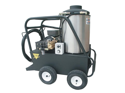 Electric hot water pressure washers, diesel fuel-heated