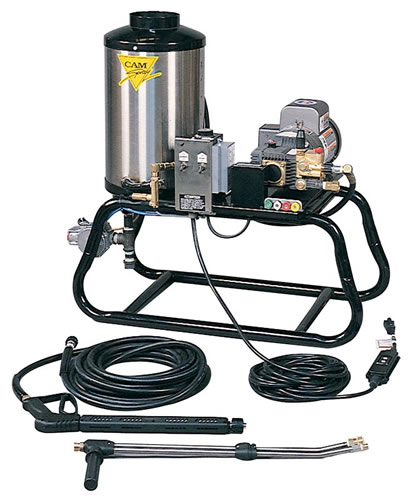 Stationary LP Gas Fired Electric Powered 3 gpm, 1000 psi Hot Water Pressure Washer | 1000STLEF