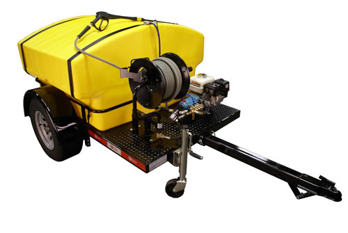 Gas Cold Water Pressure Washers - Trailer & Skid Mounted | Cam Spray