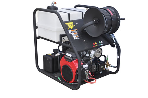 Van Mount Gas Powered 8 gpm, 3700 psi Cold Water Sewer and Drain Jetter
